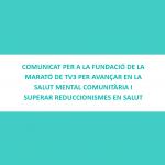 COMUNICAT PER A LA FUNDACIÓ DE LA MARATÓ DE TV3